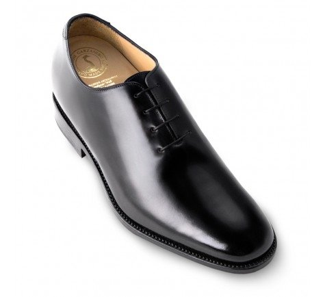 Masaltos-chaussures pour hommes sur manière Invisible Augmenter votre taille jusqu'à 7cm Modèle Detroit Noir - Noir