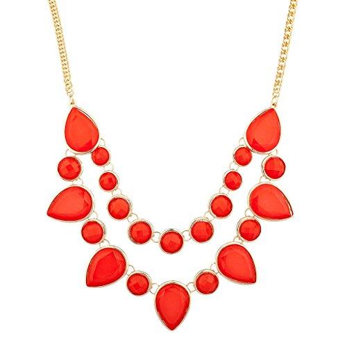 Lux accessori Arancione cerchi e diamanti Dichiarazione