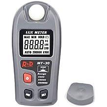 Medidor de lux digital multifuncional de luxómetro de alta precisión 0.1-200000lux Metro ...