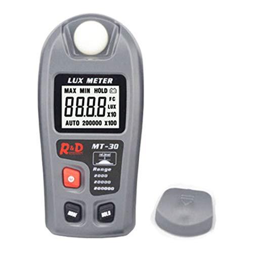 Medidor de lux digital multifuncional de luxómetro de alta precisión 0.1-200000lux Metro Lux de MT-30