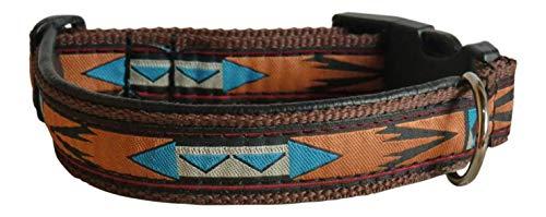 Hundehalsband Apachen Indianer Halsband Welpenhalsband 3 cm Halsband Hund (Shop Hund)