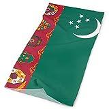 Qinckon Turkmenistan-Flagge 12-in-1-Kopftuch-Kopftuch-Wickelgamaschen