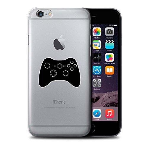 Stuff4 Hülle / Case für Apple iPhone 6 / Schwarz SNES Muster / Spielsteuerung Kollektion Schwarz Xbox 360
