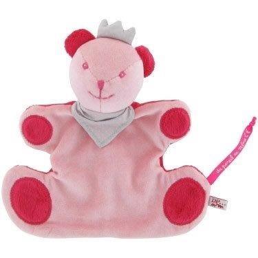 DPAM - Doudou Dpam ours rose hochet couronne gris grise Evadou - 7186