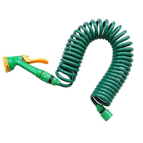 Giardino Auto Regolabile Lavaggio Tubo D'acqua A Spruzzo Pistola Sprinkler Ugello Verde