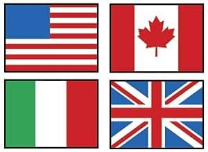 Trend Lot de 800 autocollants pour enfant Motif drapeaux du monde