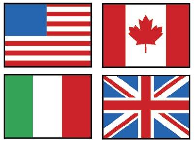 Trend Mini-Sticker, 800 Flaggen aus aller Welt