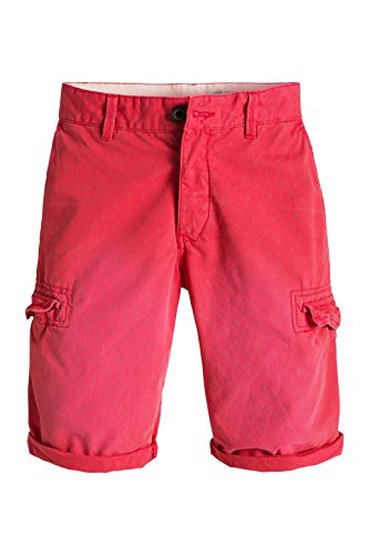 edc by ESPRIT Herren Shorts 046cc2c016 - mit Muster Rot (RED 630)