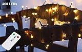 Weihnachtsbaum Lichterkette 400 LED - 40m - Fernbedienung 8 Funktionen - Innen Außen