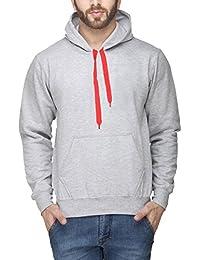 Scott Men's Premium Cotton Blend Pullover Hoodie Sweatshirt without Zip - Grey