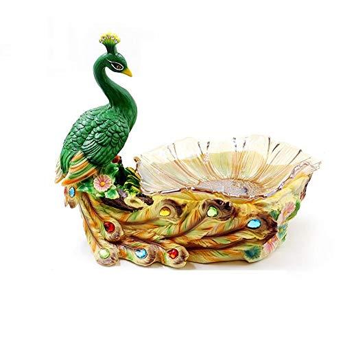 QYJpB Obstteller Wohnzimmer Melone Tablett Getrocknete Obstteller Home Candy Dish Kreative Hochzeitsgeschenk Pfau Dekoration (Color : B)
