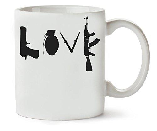 MugWorld Banksy Guns Graphic Klassische Teetasse Kaffeetasse