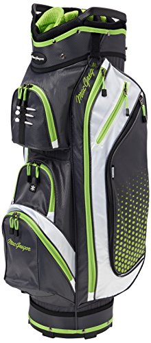 Sac de golf MacGregor Heritage Plus avec support pour homme, Homme, Sac avec support, Heritage Plus, gris/vert