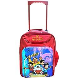 Batu Lee Worldcraft Doraemon 15 inch Red Waterproof Trolley Soft-sided Children's Backpack