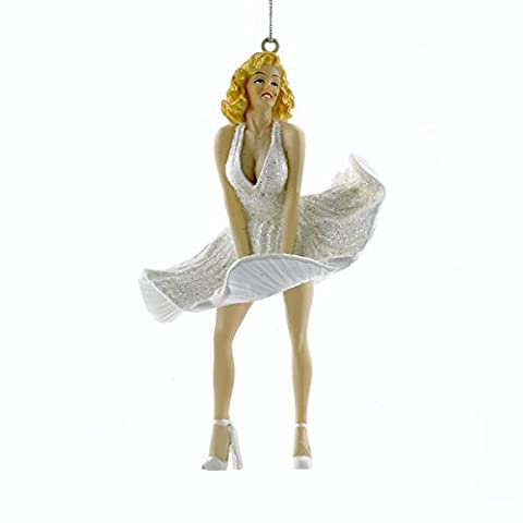 Marilyn Monroe Christmas Ornament White Dress Style by Kurt Adler by Kurt Adler