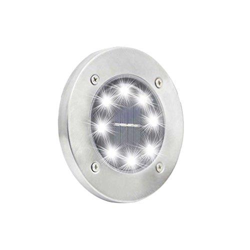 busirde 4PCS 8 LED Lámparas al Aire Libre del Paisaje del jardín Solar Planta de luz de Seguridad Impermeables Camino Yard luz del Piso