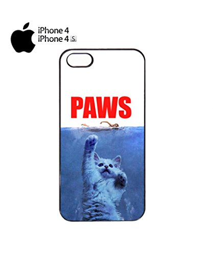 Paws Cat Kitten Meow Mobile Cell Phone Case Cover iPhone 5c Black Noir