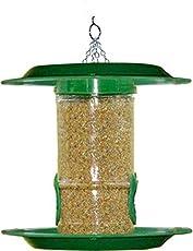 Amijivdaya Food Grade Plastic Bird Feeder with Hut (Small)