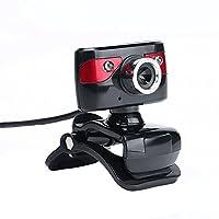 كاميرا دوكولر USB 2.0 بدقة 12 ميجابكسل عالية الوضوح 360 درجة مع مشبك ميكروفون لسطح المكتب وجهاز الكمبيوتر المحمول