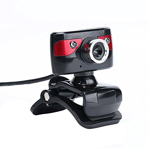 KKmoon Webcam HD USB 2.0 12 Megapixel Videocamera 360 Gradi con Microfono Clip-on per Desktop Skype Computer PC Laptop