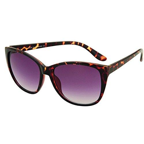 Accessoryo - dessinées conception de léopard soleil wayfarer lunettes unisexes claires avec bras métalliques sG23hU