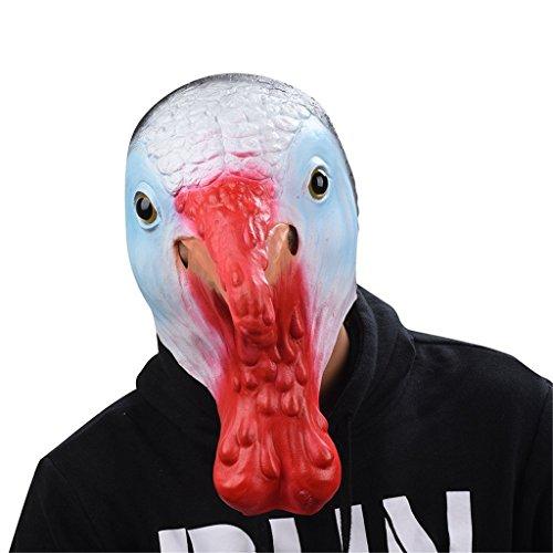 Auspicious beginning Türkei Vogel Latex Kopf Gummi Tier Maske, Neuheit Kostüm (Miami Hotline Kostüm)