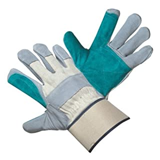 36 pairs, Leather Work Gloves- Natural Cow Split Leather, Reinfoced Palm (X-Large) by Azusa Safety