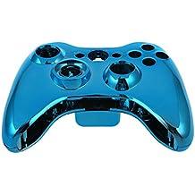 SODIAL(R) Reemplazo mando inalambrico azul de encargo del cromo Kit del caso de Shell para Xbox 360