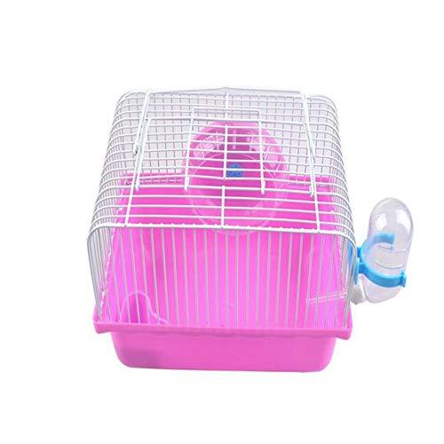 GLQ Pet Hamster Cage -Housing Playground Super großer Lebensraum Leicht zu reinigen -Tuben für Heimtierpferde,pink - Käfig Hamster Super