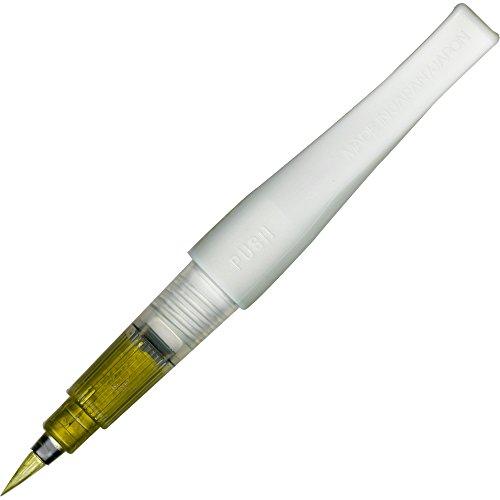 Kuretake ZIG Fude Pinselstift, Memory System Wink von Luna Bürste, Gold (dbb190-101) (Zig Memory System-stifte)