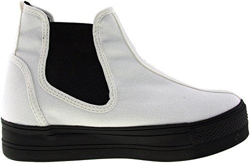 Maxstar  C30-SideSpan, Chaussons montants femme Blanc - blanc