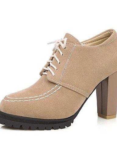 WSS 2016 Chaussures Femme-Extérieure / Bureau & Travail / Habillé-Noir / Amande-Gros Talon-Talons / Confort / Bout Arrondi-Talons-Polyuréthane almond-us6 / eu36 / uk4 / cn36