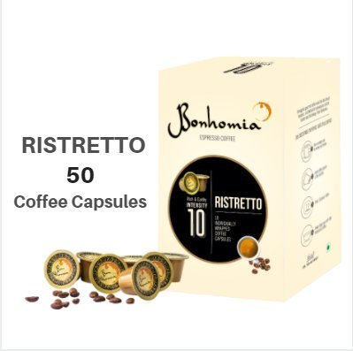 Bonhomia Coffee Capsules - 50 Ristretto capsules -Intensity 10- Nespresso...