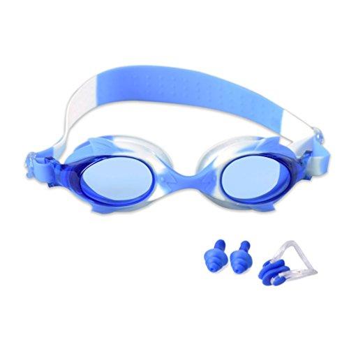 Kinder Schwimmen Schwimmbrille, HuaYi Anti-Fog UV-Schutz Weiche Silikon Rahmen Kind Schwimmbrille...