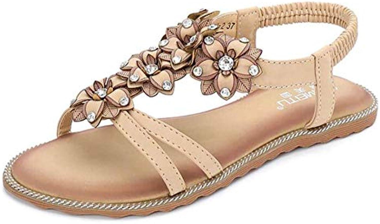 Clip Toe Tongs Bride à la Cheville d'été Sandales d'été Cheville Pantoufle Fashion Bohemian Beach, Noir, US8.5 / EU39 / UK6.5... 9abd99