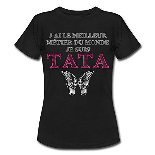 citation-meilleur-metier-je-suis-tata-t-shirt-femme-de-spreadshirtr-m-noir