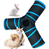 Pets Empire 3 Way Cat Tunnel, Collapsible Pet Toy Tunnel With Ball For Cat, Puppy, Kitty, Kitten, Rabbit