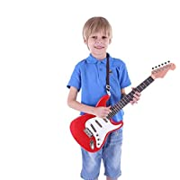 Kids Guitar Electric Guitar Kids Toy Music Instrument Gift for Boys Girls Beginners Red
