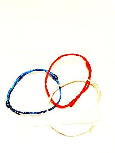 2braccialetti 'Primavera martisor Bianco, Rosso Originale Kabbalah protezione in bustina organza bianco regalo un braccialetto cielo protezione stress Salute