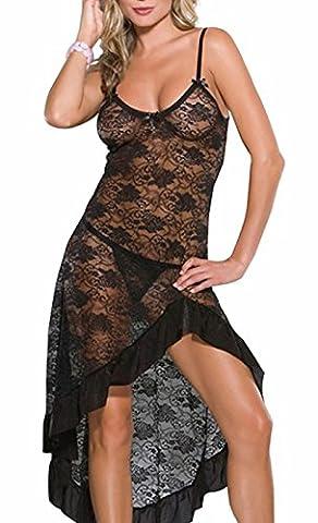 Awake Femmes Voir la lingerie en dentelle robe Maxi Set Robe longue