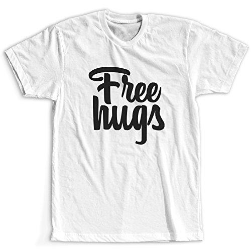 Free Hugs Cute Maglietta T-Shirt Bianco Donna / Più colori e dimensioni / Spedizione Veloce