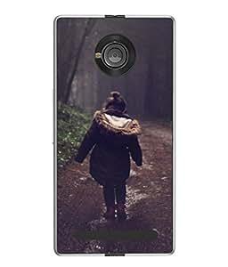 PrintVisa Designer Back Case Cover for YU Yuphoria :: YU Yuphoria YU5010 (Landscape Happy Fall Walking Park)