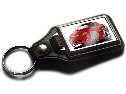 honda-accord-premium-koolart-leather-and-chrome-keyring-choose-a-colour-red