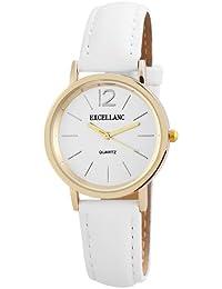 Excellanc  - Reloj de cuarzo para mujer, correa de diversos materiales color blanco