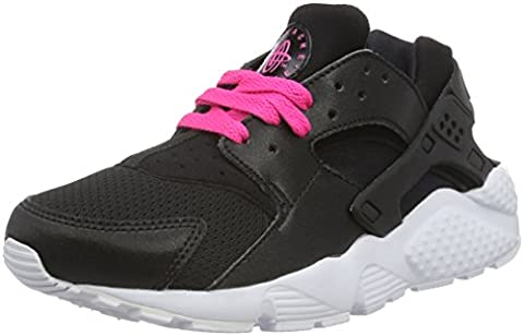 Nike Unisex-Kinder Huarache Run (GS) Shoe Low-Top, Schwarz (007 Black/White-Pink Blast), 36 EU