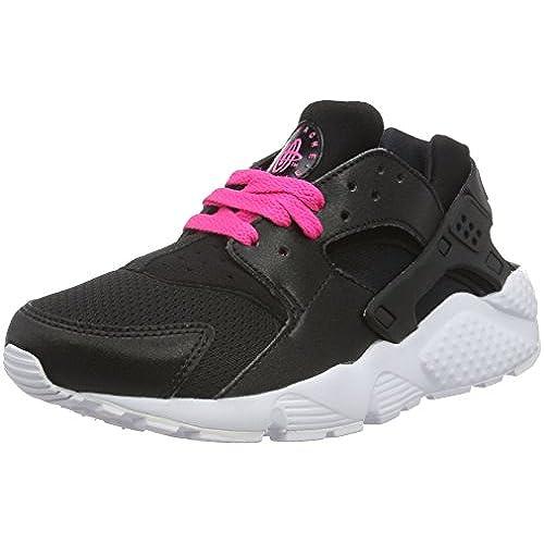 Nike Huarache Run (GS), Sneakers Basses Mixte Enfant, Blanc (White/White-Pure Gris Platinum), 38 EU