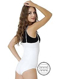 Formeasy Shapewear Damen Body stark formend, Body Shaper – brustfrei, mit Lieblings-BH Tragen - Figurformender Bauchweg Body, Formende Unterwäsche, Miederbody, Shapeware Bauch Weg Body