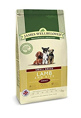 James Wellbeloved Adult Small Breed Dog Lamb and Rice