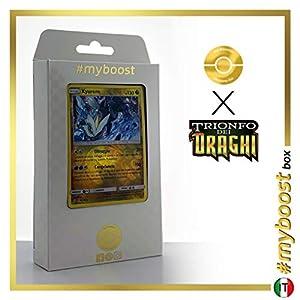 Kyurem 47/70 Holo Reverse - #myboost X Sole E Luna 7.5 Trionfo dei Draghi - Box de 10 Cartas Pokémon Italiano