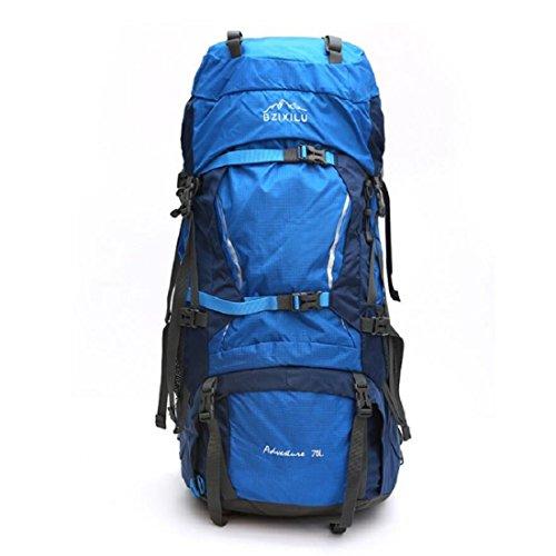 Z&N Backpack Hochwertiges Nylon GroßE KapazitäT 70L Unisex Profi Outdoor Sport Bergsteigen Rucksack Camping Wandertasche Rucksack Klettern GepäCk Tasche C